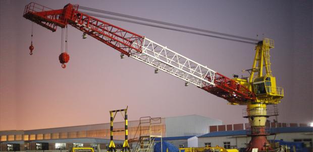 Pedestal Crane Deck Crane Equipment For Onshore